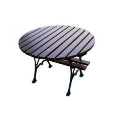 Stół okrągły królewski aluminiowy