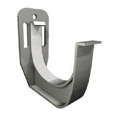 ATLAS uchwyt (hak) rynnowy 75 mm (4 szt.), srebrny z wkrętami