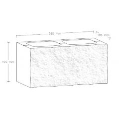 CJBLOK Pustak betonowy elewacyjny PBE-19-1 jednostronnie łupany, 2 image