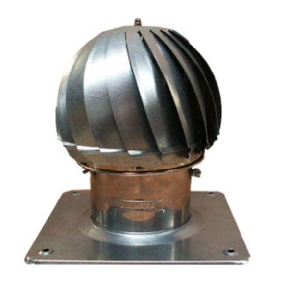Nasada Turbomax 1 SREBRNY Ø 120mm z podstawą rurową ocynk
