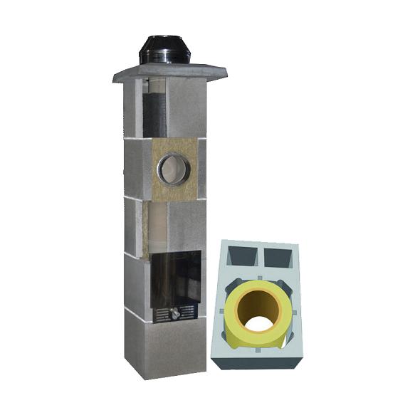 System Kominowy Ceramiczny  JAWAR Uniwersal Plus Ø 160mm z wentylacją  2-kanałową rura izostatyczna