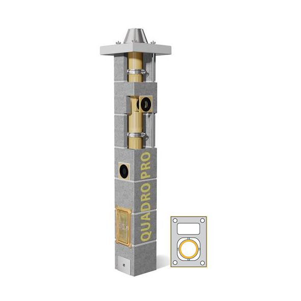 System Kominowy Ceramiczny SCHIEDEL Quadro Pro Ø 120mm z wentylacją