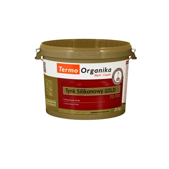 Tynk silikonowy Termo Organika  GOLD TO-TSG, 25 kg