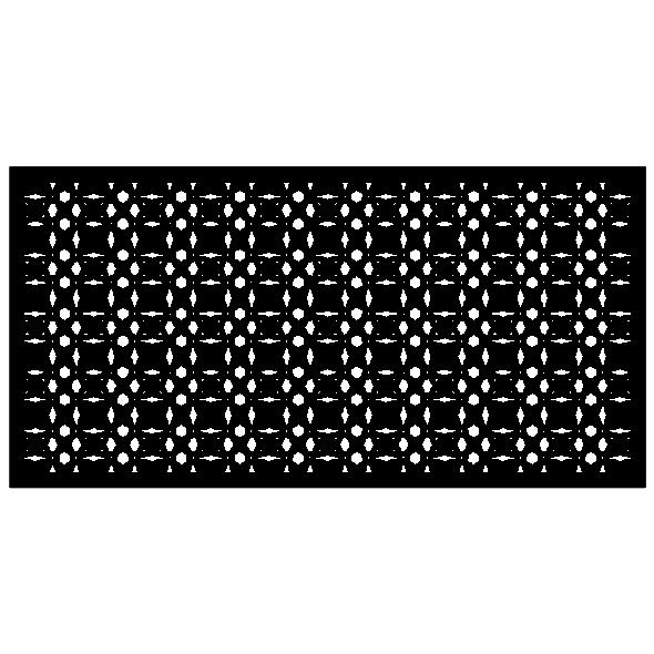 Panel ogrodzeniowy Geomteric Swirl-3