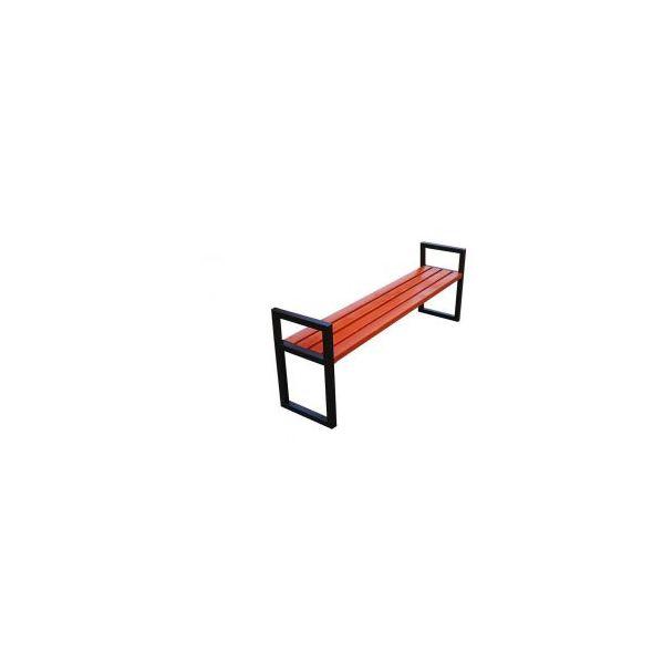Ławka miejska Modern bez oparcia z podłokietnikiem