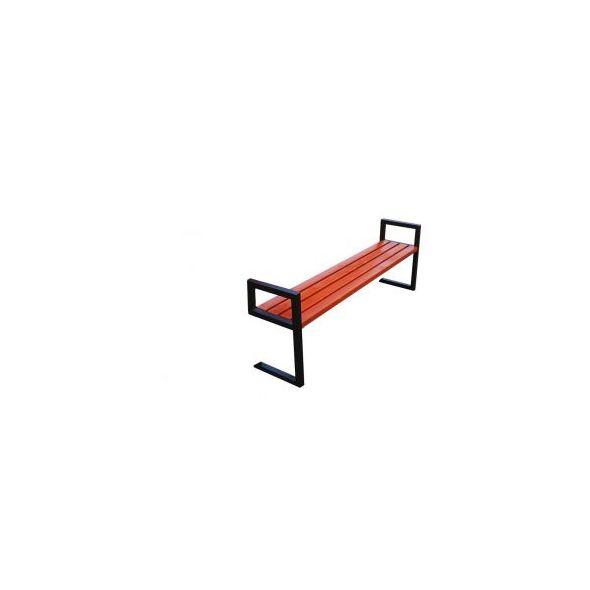 Ławka miejska Modern II bez oparcia z podłokietnikiem