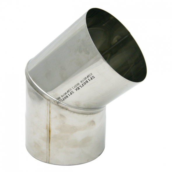 Kolano stałe 45° kwasoodporne SPIROFLEX Ø 250mm