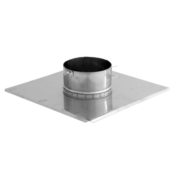 Płyta dachowa wywiewki 2 nierdzewna SPIROFLEX Ø  80mm